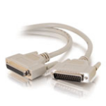 C2G 3m IEEE-1284 DB25 M/F Cable 3m Grey printer cable