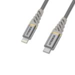 OtterBox Premium Cable USB C-Lightning 1M USB-PD, Silver Dust