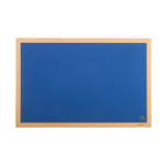 Bi-Office Earth-It Blue Felt Ntcbrd Oak Frame 180x120cm DD