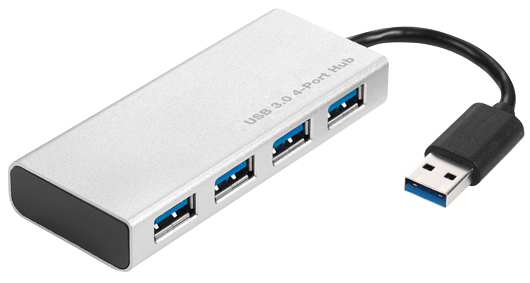 2-Power HUB0106A USB 3.0 (3.1 Gen 1) Type-A 5000Mbit/s Aluminium interface hub