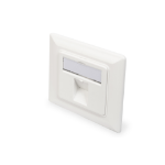 Digitus Wallplate for Keystone Modules, German type, middle plate 50x50 mm, frame 80x80 mm