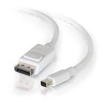 C2G 2m Mini DisplayPort to DisplayPort Adapter Cable 4K UHD - White