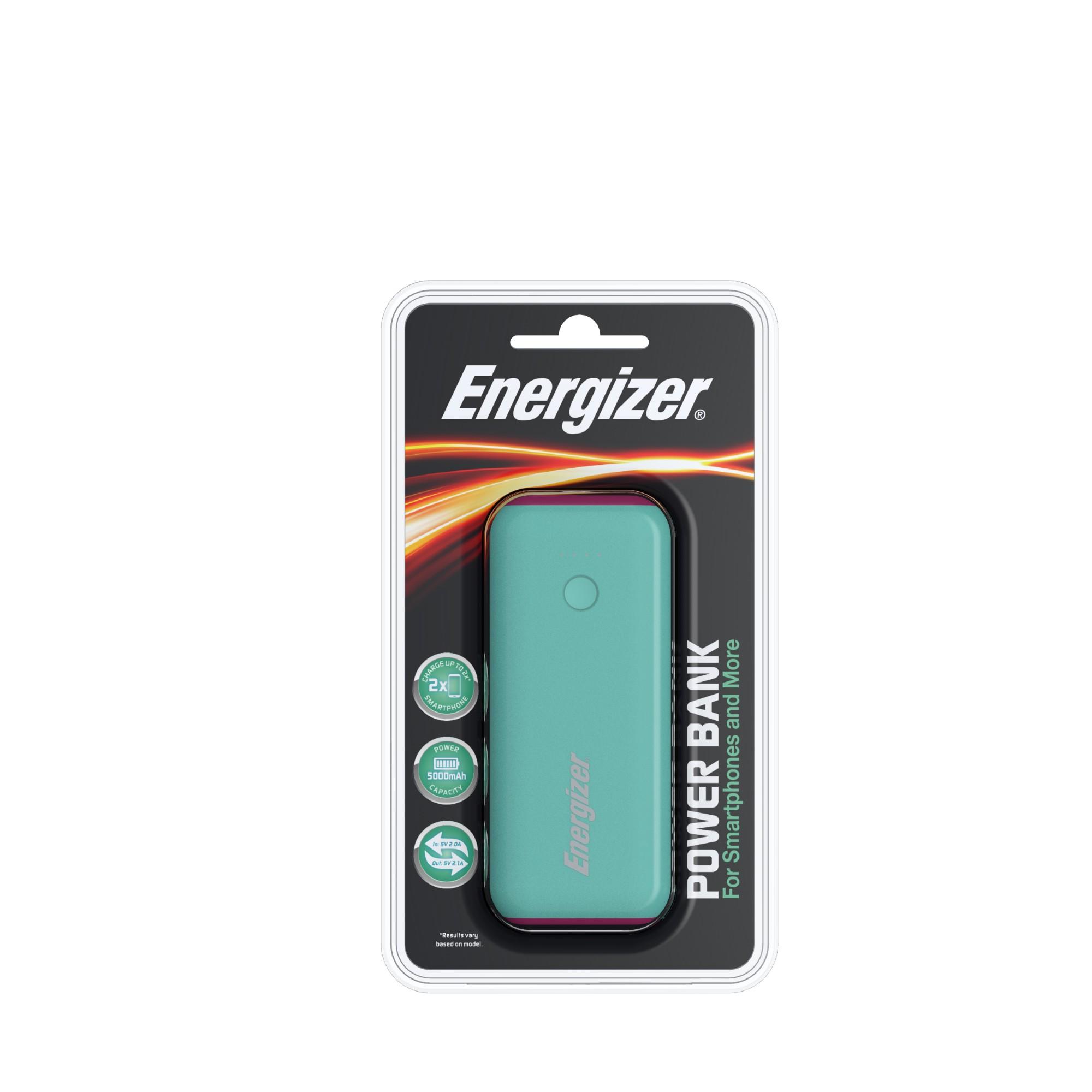 Energizer 5000mAh PowerBank Mint/Magenta