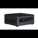 Intel NUC BOXNUC7PJYH PC/workstation barebone UCFF Black BGA 1090 J5005 1.5 GHz