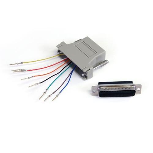 StarTech.com DB25 to RJ45 Modular Adapter - M/F