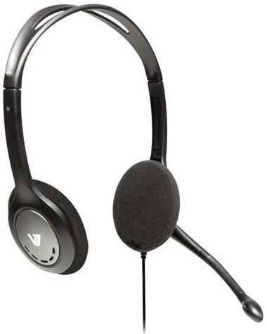 V7 Auriculares estéreo livianos con micrófono