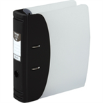 Hermes Lever Arch File Polypropylene Capacity 50mm A4 Black Ref 832001