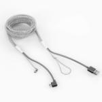 Bouncepad Reinforced USB cable 2 m USB A Micro-USB B White