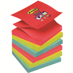 Post-It Super Sticky Z-Notes Pad 90 Sheets BoraBora 76x76mm Ref R330-6SS-JP [Pack 6]