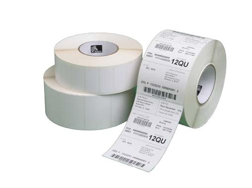 Zebra Z-Perform 1000D Wit Zelfklevend printerlabel