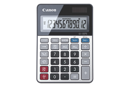 Canon LS-122TS calculator Desktop Display Grey