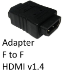 HDMI 1.4 (F) to HDMI 1.4 (F) Black Gender Changer Adapter