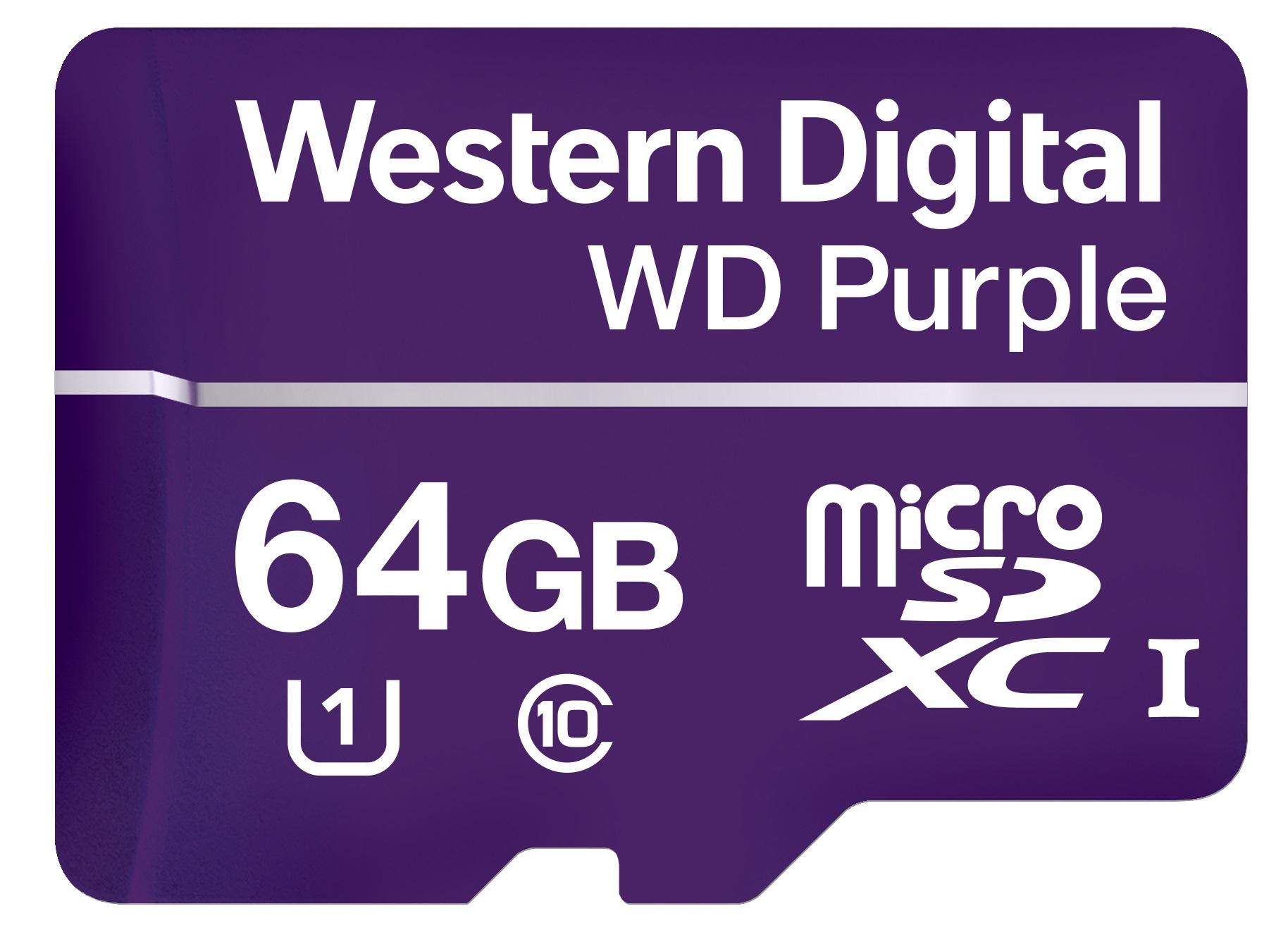 Western Digital Purple memoria flash 64 GB MicroSDXC Clase 10