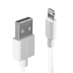 Lindy 31327 2m USB A Lightning White mobile phone cable