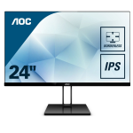 "AOC Value-line 24V2Q computer monitor 60.5 cm (23.8"") 1920 x 1080 pixels Full HD LED Flat Matt Black"