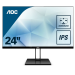 "AOC Value-line 24V2Q pantalla para PC 60,5 cm (23.8"") 1920 x 1080 Pixeles Full HD LED Plana Mate Negro"