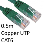 TARGET RJ45 (M) to RJ45 (M) CAT6 0.5m Green OEM Moulded Boot Copper UTP Network Cable