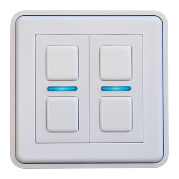 LIGHTWAVE LWGEN 2 SMART DIMMER 2 GANG - WHITE