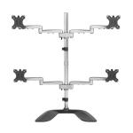 "StarTech.com ARMQUADSS monitor mount / stand 32"" Freestanding Black,Silver"