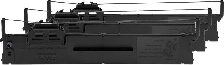 Epson Cartucho negro SIDM para PLQ-20/22, pack de 3 (C13S015339)