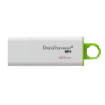 Kingston Technology DataTraveler G4 USB flash drive 128 GB USB Type-A 3.0 (3.1 Gen 1) Groen, Wit