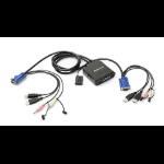 iogear GCS72U KVM cable 0.91 m Black