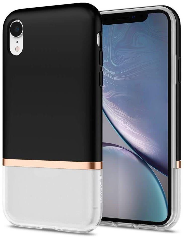"Spigen La Manon Jupe mobiele telefoon behuizingen 15,5 cm (6.1"") Hoes Zwart"