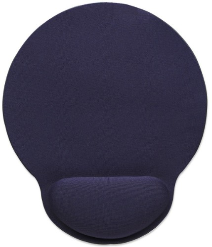 Manhattan Wrist-Rest Mouse Pad, Gel, non slip base, Blue