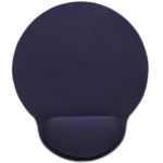 Manhattan Wrist-Rest Mouse Pad, Gel, non slip base, Blue