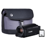 Canon Legria HF R88 Black Camcorder Kit inc Wide Angle Adapter, 32GB Card & Case