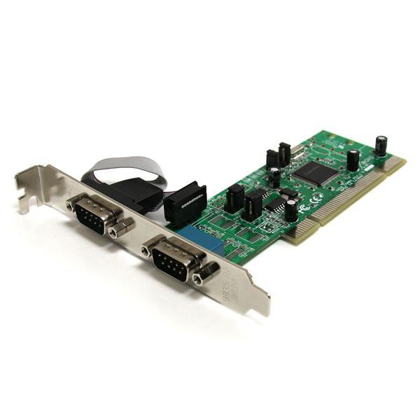 StarTech.com Tarjeta Adaptadora PCI de 2 Puertos Serie RS422/485 DB9 UART 161050 5V o 3.3V