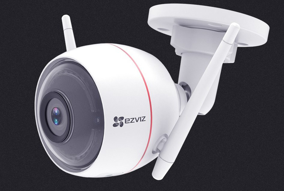 EZVIZ C3W Full HD 1080p Outdoor Smart Security WiFi Camera Siren & Strobe Light - White