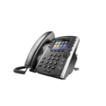 Polycom VVX 400 Skype for Business Wired handset 12lines TFT Black
