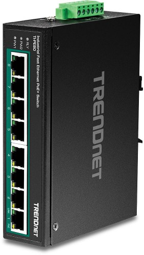 Trendnet TI-PE80 network switch Fast Ethernet (10/100) Black Power over Ethernet (PoE)