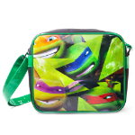 TEENAGE MUTANT NINJA TURTLES (TMNT) Turtles Character Faces Messenger Bag, Black/Green (MB301000TNT)