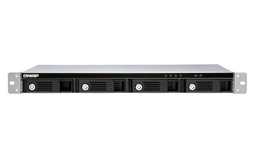 QNAP TR-004U disk array Black, Gray