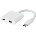 eSTUFF USB-C MiniDP Charging Adapter USB 3.0 (3.1 Gen 1) Type-C White interface hub