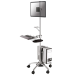 Newstar FPMA-MOBILE1800 Multimedia cart Zilver multimediawagen & -steun