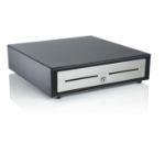 NCR Black Metal Compact Cash Drawer with U.S. till