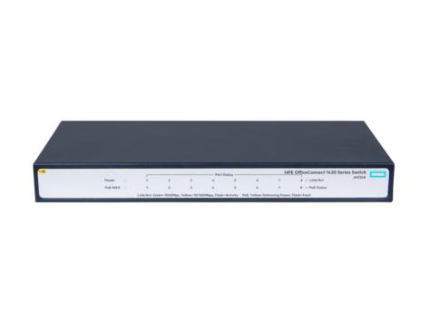 Hewlett Packard Enterprise OfficeConnect 1420 8G PoE+ (64W) Unmanaged L2 Gigabit Ethernet (10/100/1000) Grey 1U Power over Ethernet (PoE)