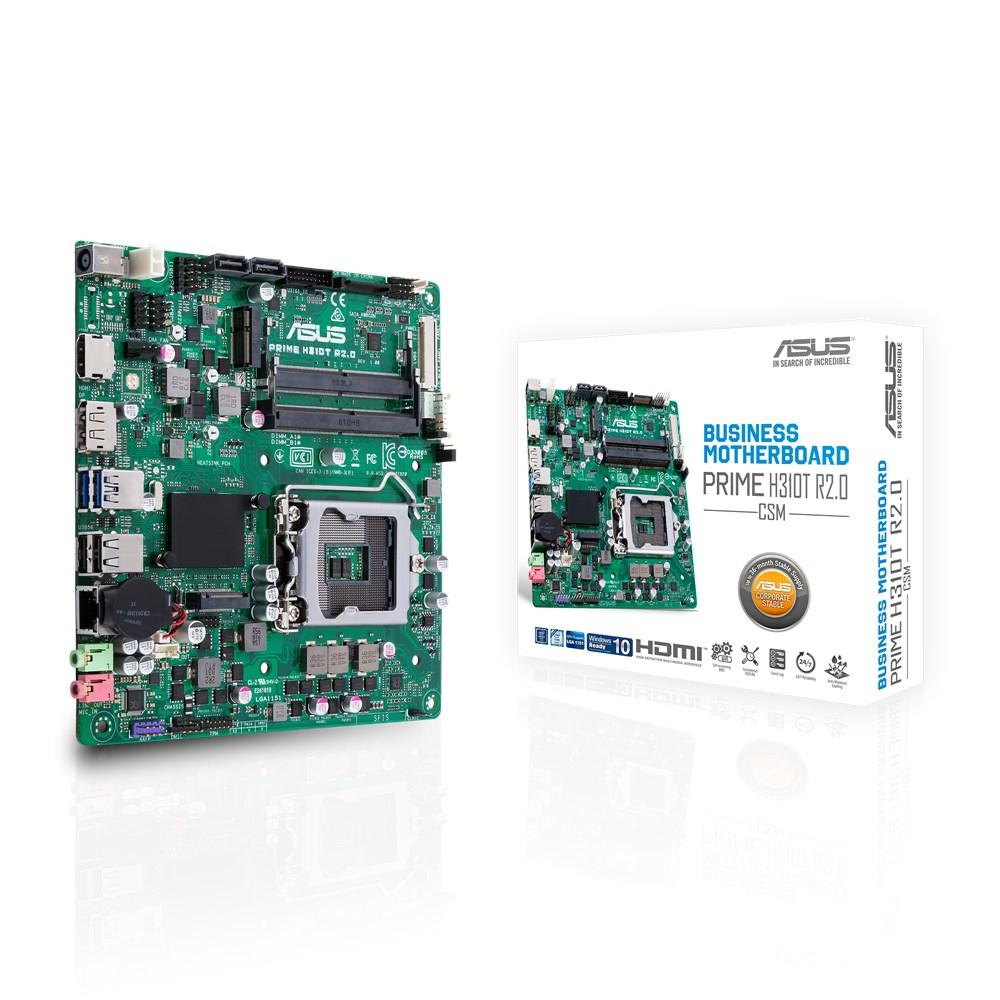 ASUS Prime H310T R2.0/CSM server/workstation motherboard LGA 1151 (Socket H4) Intel® H310 mini ITX