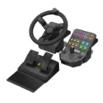Saitek Heavy Equipment Precision Control System Steering wheel + Pedals PC Black