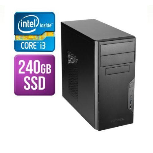 SPIREPC Spire Tower PC, Antec VSK3000B, i3-8100, 8GB, 240GB SSD, Corsair 450W, DVDRW, KB & Mouse, No