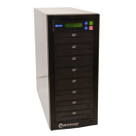 Microboards Technology QuicDisc DVD; 7 x DVD?RW (22x); 1 to 7 Stand-Alone Disc Duplicator; from Hypertec
