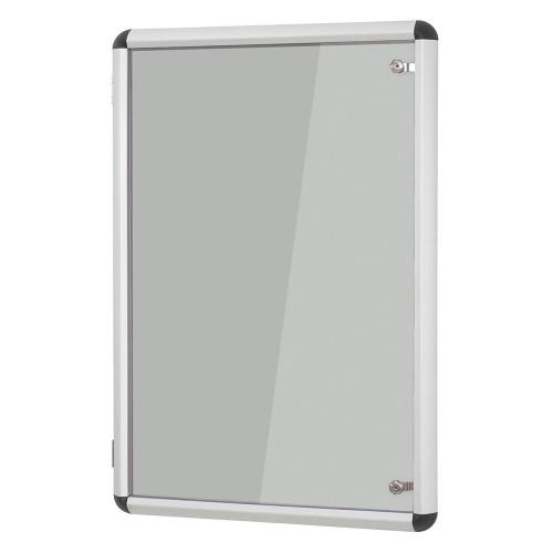 Metroplan Shield Design insert notice board Indoor Aluminium, Grey Aluminium