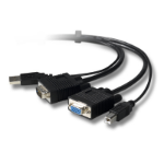 Belkin F1DN10XU 1.8m 1.8m Zwart toetsenbord-video-muis (kvm) kabel