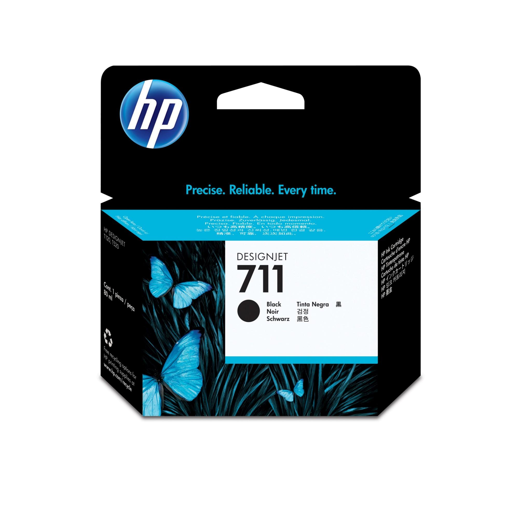 HP 711 Original Negro 1 pieza(s) Alto rendimiento (XL)