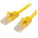 StarTech.com 45PAT50CMYL 0.5m Cat5e U/UTP (UTP) Yellow networking cable