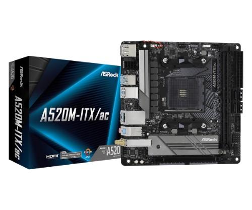 Asrock A520M-ITX/ac AMD A520 Socket AM4 mini ITX