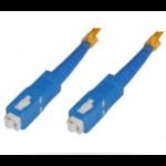 Microconnect 15m, SC - SC fiber optic cable Yellow
